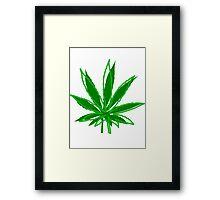 Abstract Cannabis Leaf Framed Print