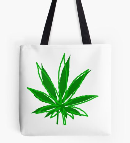 Abstract Cannabis Leaf Tote Bag
