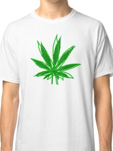 Abstract Cannabis Leaf Classic T-Shirt