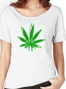 Abstract Cannabis Leaf Women's Relaxed Fit T-Shirt