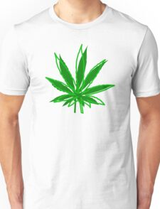 Abstract Cannabis Leaf Unisex T-Shirt
