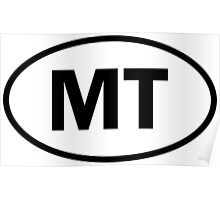 Montana - MT - oval sticker and more Poster