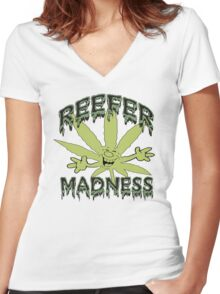 Reefer Madness Women's Fitted V-Neck T-Shirt