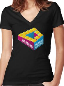 Creative Dissonance Women's Fitted V-Neck T-Shirt