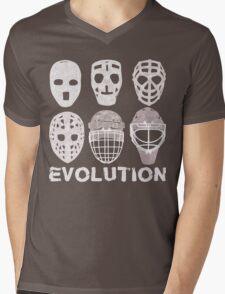 Hockey Goalie Mask Evolution Mens V-Neck T-Shirt