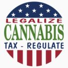 Legalize Cannabis Marijuana by MarijuanaTshirt