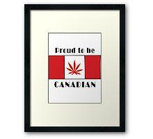 Canadian Flag Weed Framed Print