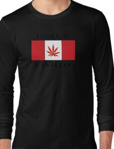 Canadian Flag Weed Long Sleeve T-Shirt
