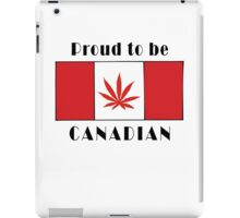 Canadian Flag Weed iPad Case/Skin