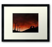 Purrfect Moment Framed Print