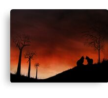 Purrfect Moment Canvas Print