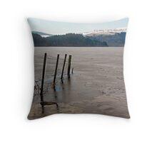 Frozen Loch Ard Throw Pillow