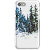Evergreen Landscape Watercolour Painting iPhone Case/Skin