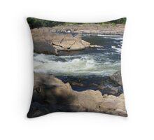 raging rapids Throw Pillow
