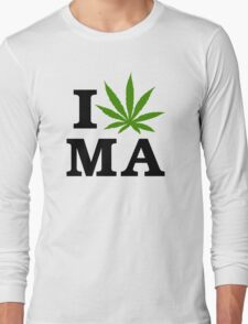 I Marijuana Massachusetts Long Sleeve T-Shirt