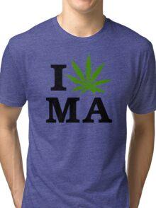 I Marijuana Massachusetts Tri-blend T-Shirt