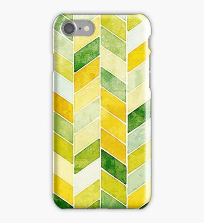 Green Herringbone Pattern iPhone Case/Skin