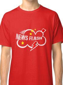 News flash black geek funny nerd Classic T-Shirt