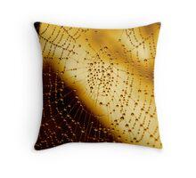 Spider web Throw Pillow