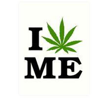 I Love Maine Marijuana Cannabis Weed Art Print