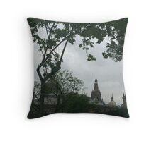 Barcelona - Castle de Montjuic Throw Pillow