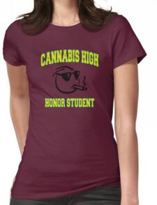 Cannabis High Womens Fitted T-Shirt