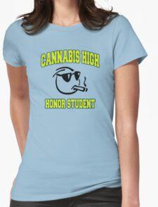 Cannabis High Womens Fitted T-Shirt