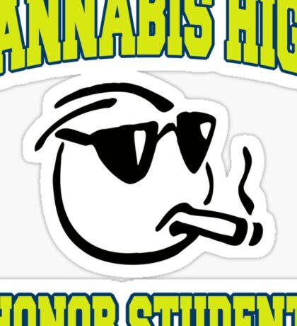 Cannabis High Sticker