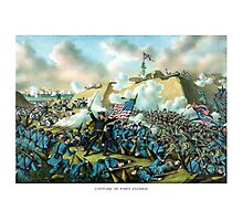 The Capture of Fort Fisher -- Civil War  Photographic Print