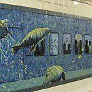 Houston St. Subway Station Mosaic, NYC by Patricia127