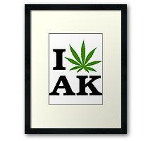 I Love Alaska Marijuana Cannabis Weed  Framed Print