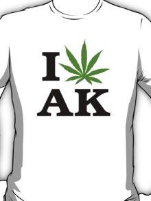 I Love Alaska Marijuana Cannabis Weed  T-Shirt