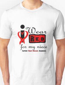 Niece i wear red ribbon heart disease geek funny nerd T-Shirt