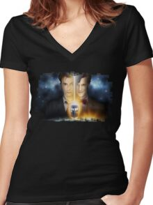 Doctor Who - Tennant & Smith  Women's Fitted V-Neck T-Shirt