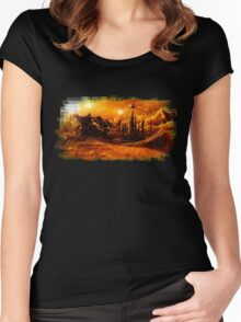 Doctor Who - Gallifrey & Doctor's Name Women's Fitted Scoop T-Shirt