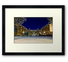 St Catharine's in the snow Framed Print