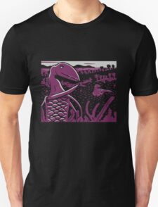 Dimorphodon and Scelidosaurus - Gray and Purple T-Shirt