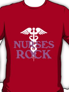 Nurses rock geek funny nerd T-Shirt