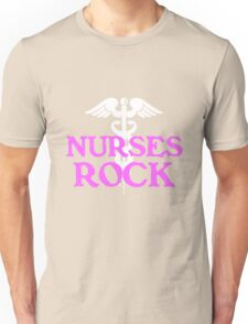 Nurses rock geek funny nerd Unisex T-Shirt