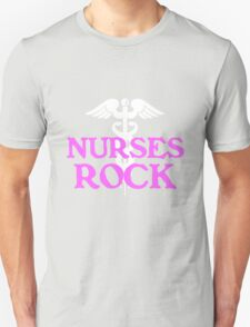 Nurses rock geek funny nerd T-Shirt