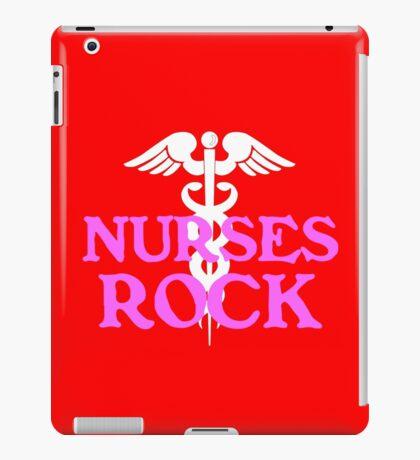 Nurses rock geek funny nerd iPad Case/Skin