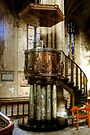 The Pulpit in Ripon Cathedral by Christine Smith