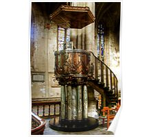 The Pulpit in Ripon Cathedral Poster