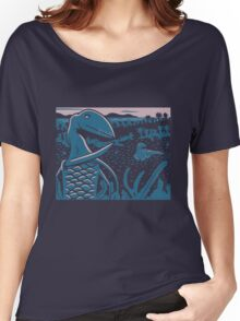 Dimorphodon and Scelidosaurus - Purple and Blue Women's Relaxed Fit T-Shirt