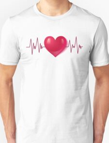 Heart and pulse Unisex T-Shirt