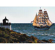 Newport, RI, a tall sailing ship Photographic Print