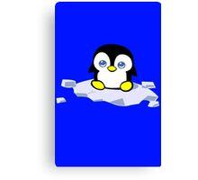 Penguin geek funny nerd Canvas Print