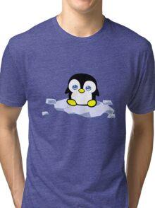 Penguin geek funny nerd Tri-blend T-Shirt