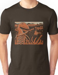 Dimorphodon and Scelidosaurus - Tan and Orange T-Shirt