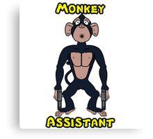 Monkey assistant - pout #2 Canvas Print